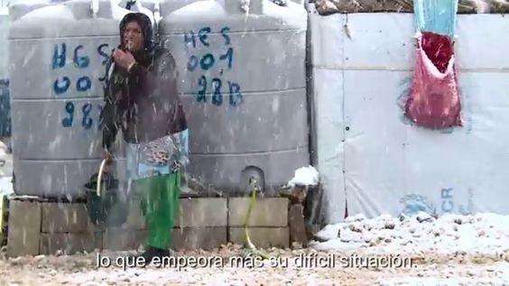 Refugiados sirios frente al invierno en Líbano