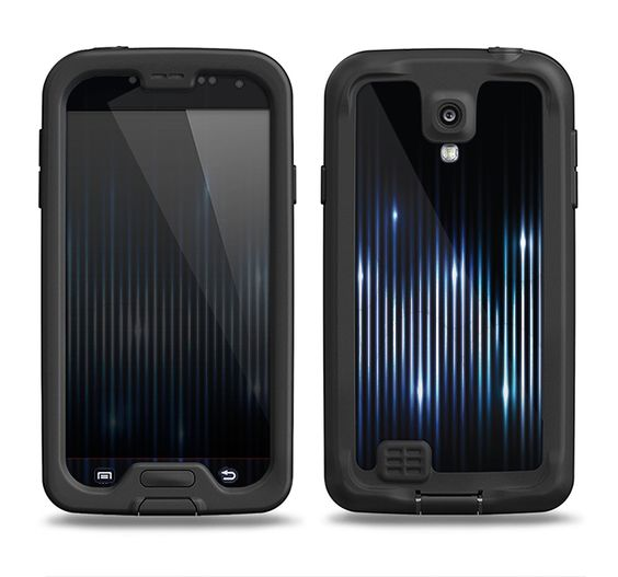 The Glowing Blue WaveLengths Samsung Galaxy S4 LifeProof Nuud Case Skin Set