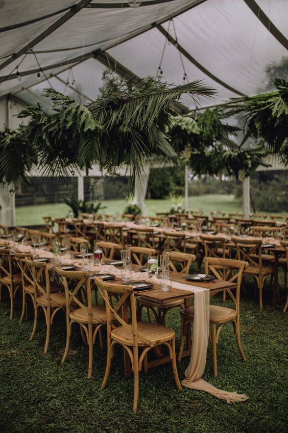 Modern DIY farm wedding with greenery and copper elements