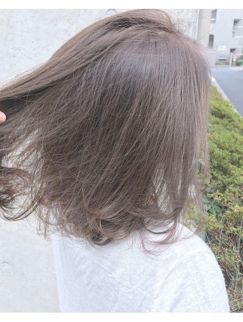 ブリーチなしミルクティーベージュカラー L009645153 アクア アオヤマ Acqua Aoyama のヘアカタログ ホットペッパービューティー 髪色 ミルクティー ブリーチなし ヘア
