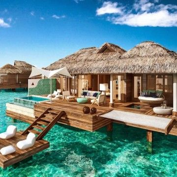 Sandals Resort, Montego Bay, Jamaica has opened over water Bungalows.