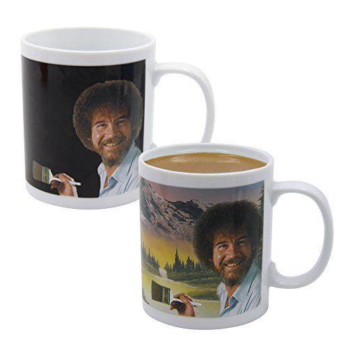 Holybo Bob Ross Coffee Mug Morphing Changing Color Heat Reveal Tea