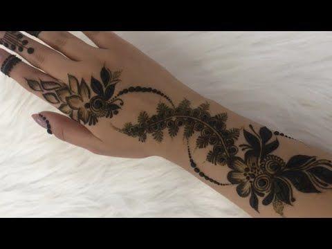 تعليم نقش الحناء خفيف جدا وراقي خطوه بخطوه نقش الجميله مريم البلوشي Youtube Mehndi Designs Henna Hand Tattoo Eid Mehndi Designs