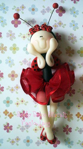 *SORRY, no information as to product used ~ Móbile joaninha bailarina p a querida Grazi
