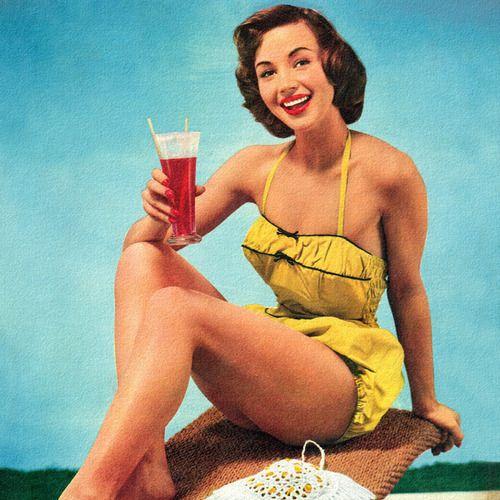 Yellow Swimsuit <3 1950's