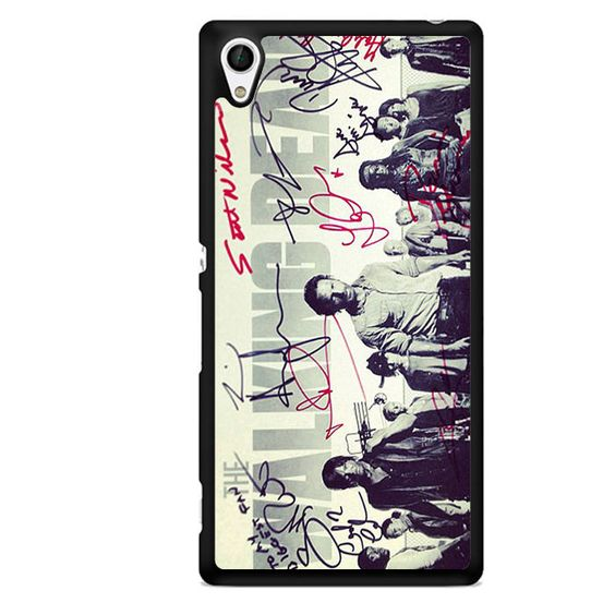 The Walking Dead Cover Movie And Signature TATUM-11071 Sony Phonecase Cover For Xperia Z1, Xperia Z2, Xperia Z3, Xperia Z4, Xperia Z5