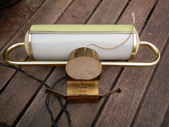 1 of 4: Alte Wandlampe 50er Bettleseleuchte Bilderleuchte Spiegellampe Klavierlampe DDR
