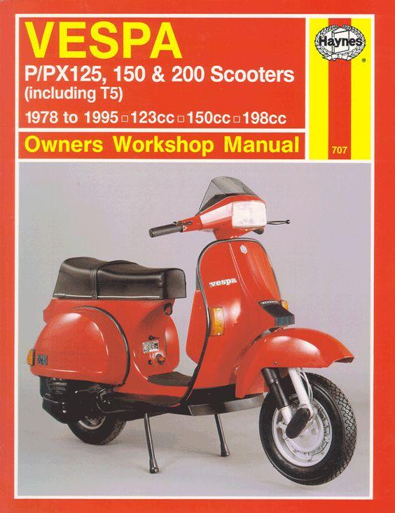 vespa p px 125 150 200 scooters repair manual 1978 2003. Black Bedroom Furniture Sets. Home Design Ideas