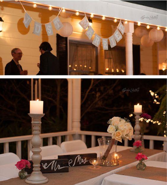 Casamento: Simone e Wagner – decoração marrom e azul