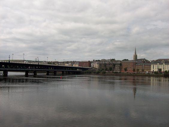 Bridge across the River Foyle   Londonderry, Northern Ireland
