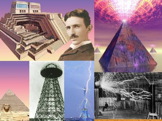 Oude energiemachine - The Great Pyramid Of Giza: Replica van Tesla's Power Plant