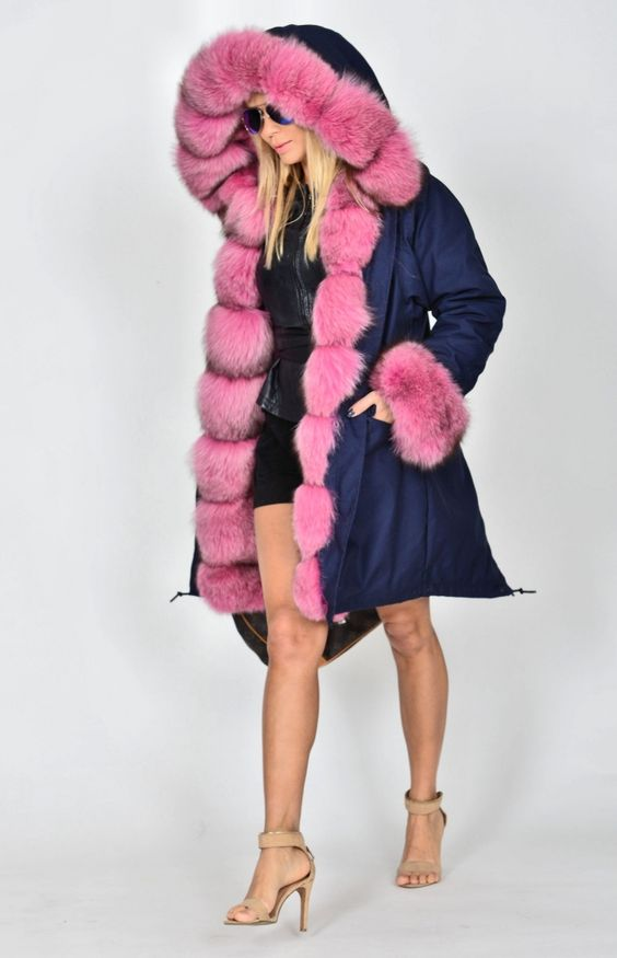 american parka with fur - top trendy american army parka with fox fur - coat: