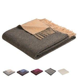 Cashmere Plaid Die Wohndecke aus kostbarem Wolle-Kaschmir-Mix ist wunderbar leicht und ist in schönen Farben erhältlich