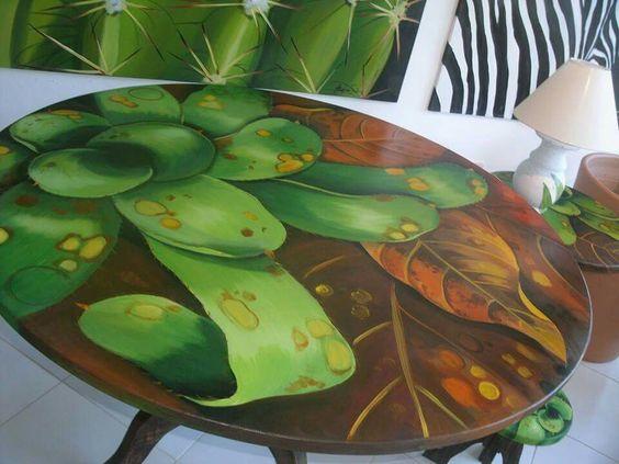 Artista Argina Seixas  Tampo de mesa