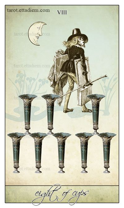 The Isidore Tarot – A New Neo Victorian Tarot Deck » Eight of Cups | via Angela Jaffray