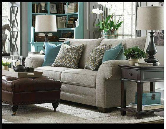 Gray Teal Living Room (inspiration For Dining Room Colors) | KBG |  Pinterest | Abreu, Salas E Tecido Part 93
