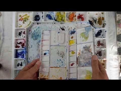 Aquarelle Gomme De Crayon Youtube Palette Aquarelle Aquarelle