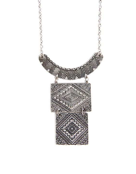 Stacked Plates Collar Necklace - 2020AVE $18
