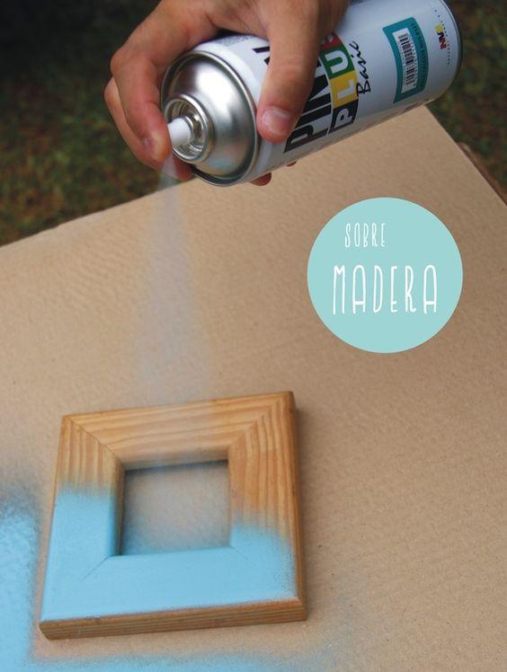 Como pintar madera con pintura en spray pintyplus para - Como pintar madera ...