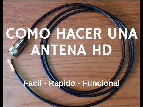 Como Hacer Una Antena Hd En Casa 100 Funcional Antena Casera Youtube Antena Hd Antena Casera Para Tv Antenas Para Tv Hd