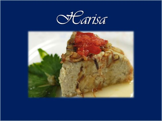 Malaysian Food - Harisa ... Harisa or Harissa is a dish originating in the Middle East where it is called Harees. It is popular in Johore and mainly eaten during the month of Ramadan and and the festive seasons - Hari Raya. It is usually made with chicken or mutton.