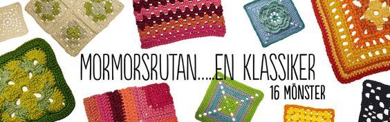 16 olika mönster på mormorsrutor hos Stickskolan.se