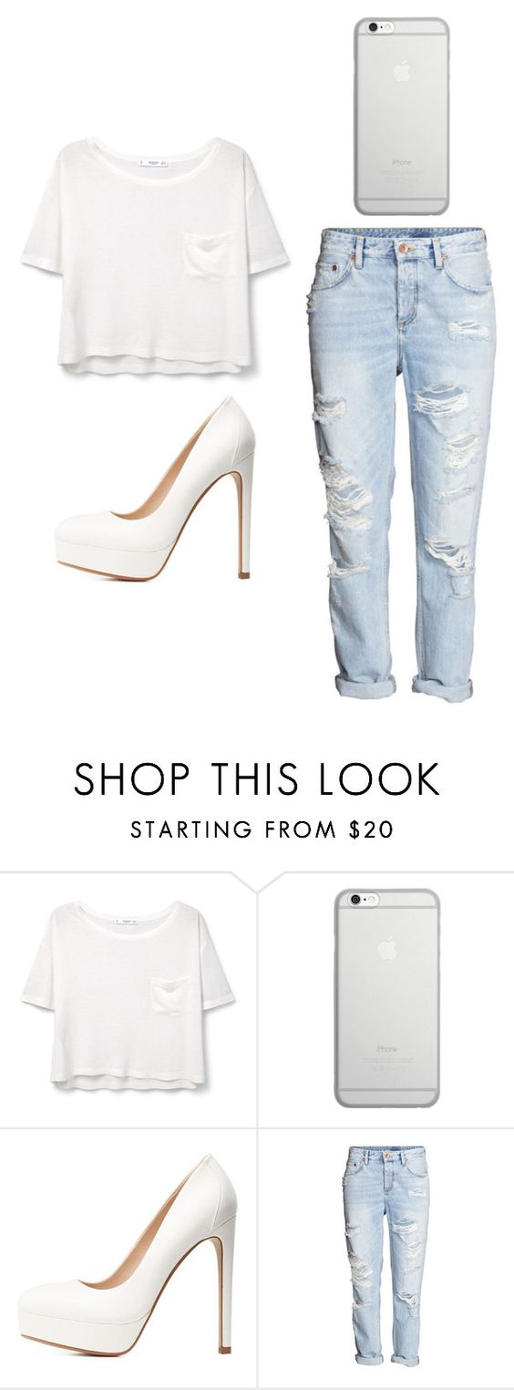 """""""Outfit Idea by Polyvore Remix"""" by polyvore-remix ❤ liked on Polyvore featuring MANGO, Native Union, Charlotte Russe and H&M"""