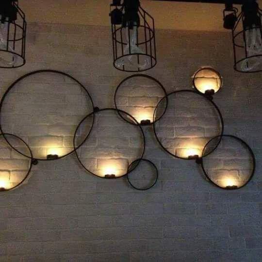 Creative Lighting In 2020 Wall Candle Holders Iron Decor Iron