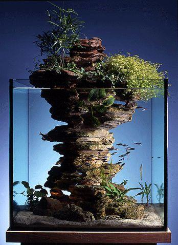 岩 アクアリウムアート