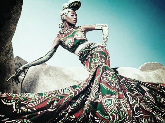 european fashion African cloth