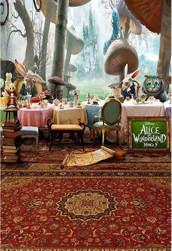 Alice In Wonderland Scene Setter Backdrop Mad Hatter Photo Prop