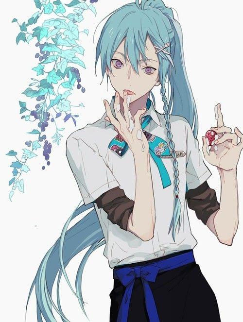 Pin By Ajanae Brown On Anime Anime Guy Blue Hair Anime Boy Long Hair Cute Anime Guys