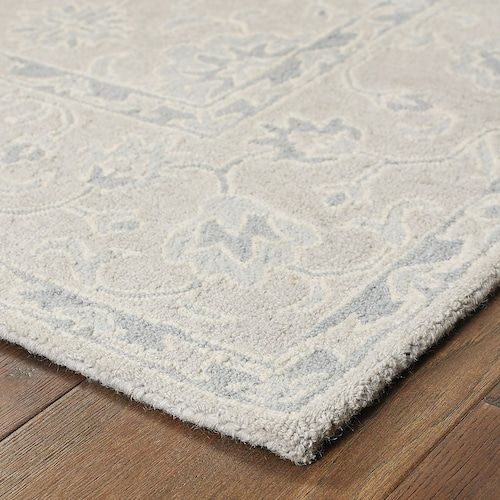 Stylehaven Milton Tone On Tone Framed Floral Wool Rug Area Rugs Rugs Grey Area Rug Tone on tone area rug