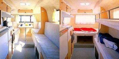 Casita Spirit Deluxe 17 Couch Bunk Bed Option