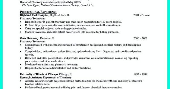 What Objectives to Mention in Certified Pharmacy Technician Resume - pharmacy tech resume