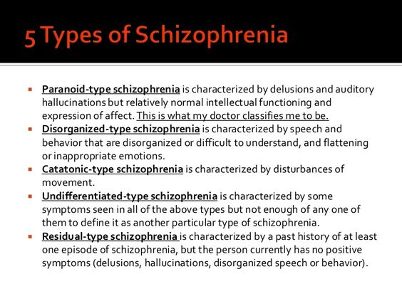 a description of schizophrenia and its symptoms and treatment Learn about schizophrenia, including symptoms, risk factors, treatment and more.