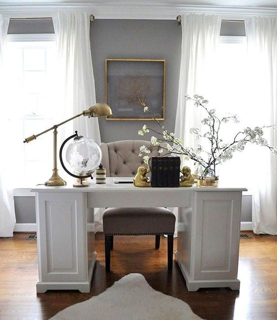 Don't think you have the extra space for a home office? ... you are trying to squeeze in a small desk or a fully loaded workspace, these ideas will. . #vintagedeskideas