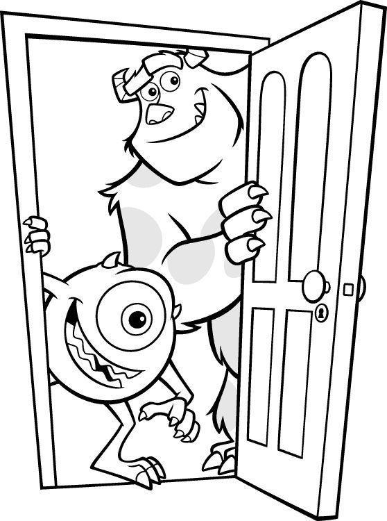 35 Paginas Para Colorear Simples Y Faciles Para Ninos 12 Quotes Ideas Disney Coloring Pages Monster Coloring Pages Coloring Books