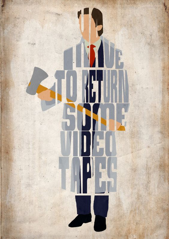 patrick bateman american psycho poster minimalist