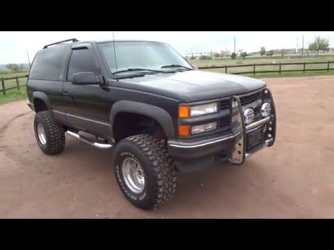 Rare 1997 Chevrolet 2 Door Tahoe Sport 4x4 Lifted Low Miles For
