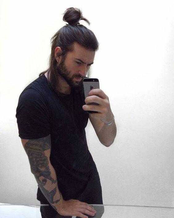 Guys Avoid Tight Hats And Tight Ponytails Long Hair Styles Long Hair Styles Men Man Bun Hairstyles