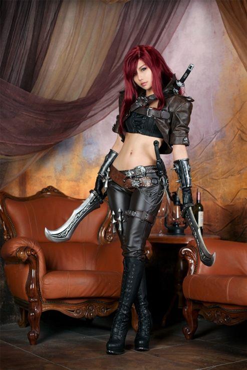 Katarina cosplay, League of legends