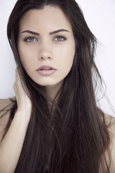 pretty girls with grey eyes and black hair google search