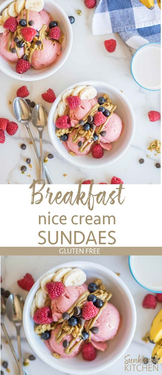 Healthy Breakfast Sundaes