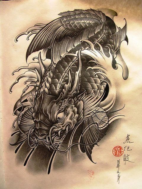 Japanese Tattoos Meaning Japanesetattoos Koi Dragon Tattoo Dragon Koi Tattoo Design Koi Tattoo Design