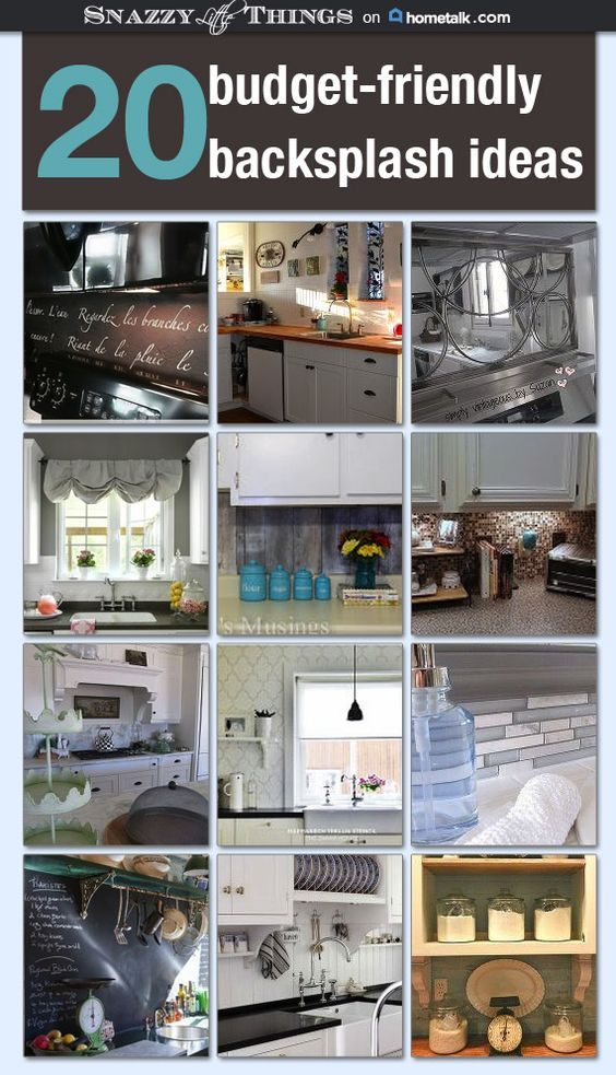 20 unique budget backsplash ideas in kitchen creative for Budget kitchen backsplash ideas