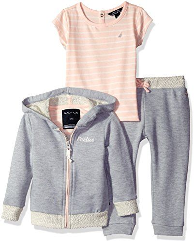Nautica Baby French Terry 3 Pc Set, Light Grey Heather, 1... http://a.co/8BnYqPY