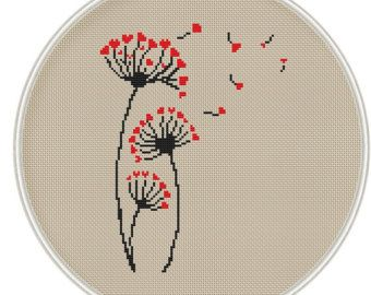 Love tree cross stitch pattern Instant von MagicCrossStitch auf Etsy