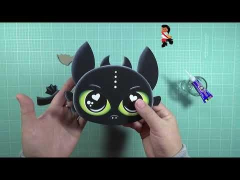 Como Hacer A Chimuelo Desdentado En Foamy Goma Eva Microporoso Handmade Craft Youtube Caja De Goma Eva Manualidades Animalitos En Goma Eva