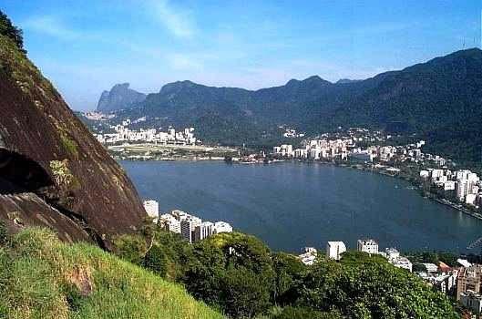 Lagoa Rodrigo de Freitas vista do Morro do Sacopã
